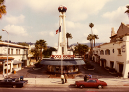 The Sunset Blvd. view of Crossroads in 1977